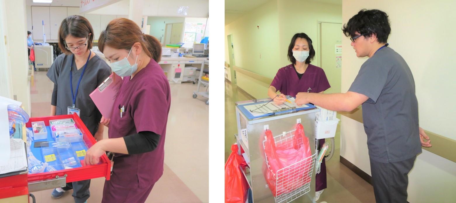 病棟での看護業務について学ぶ