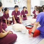 救急蘇生法②(AED体験)